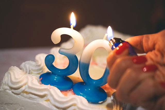 lighting '30' candles