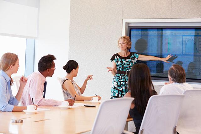 Presentation in boardroom